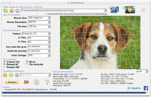 logiciel de mosaïque