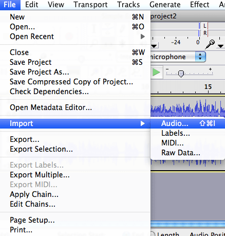 audacity split mp3