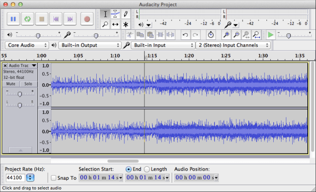 how to merge mp3 files using audacity