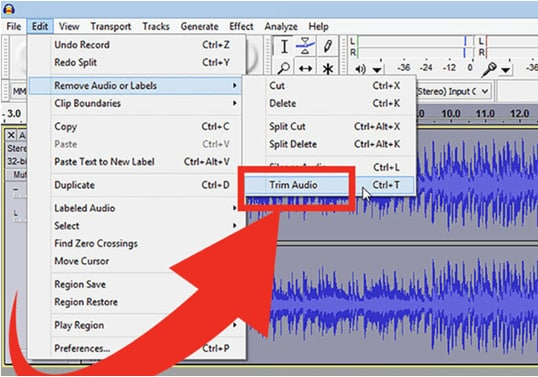 How to Trim MP3 in Audacity