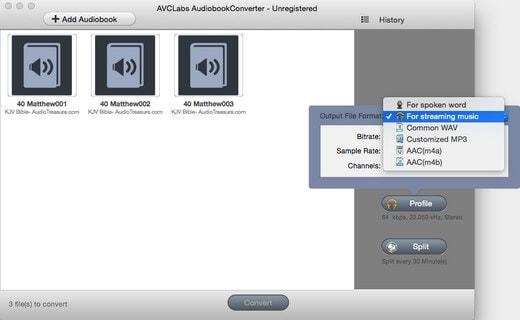 diviser les livres audio en chapitres dans avclabs