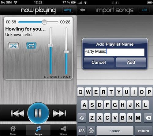 ajuster volume app