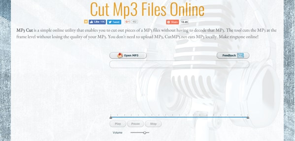 Top 10 Online MP3 Cutter to Cut MP3 for Free