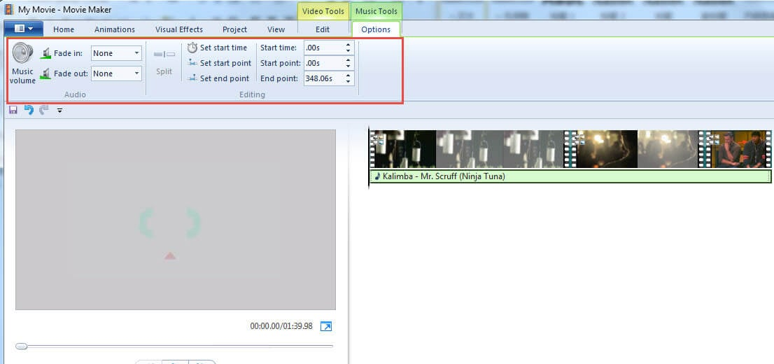 edit mp3 windows movie maker