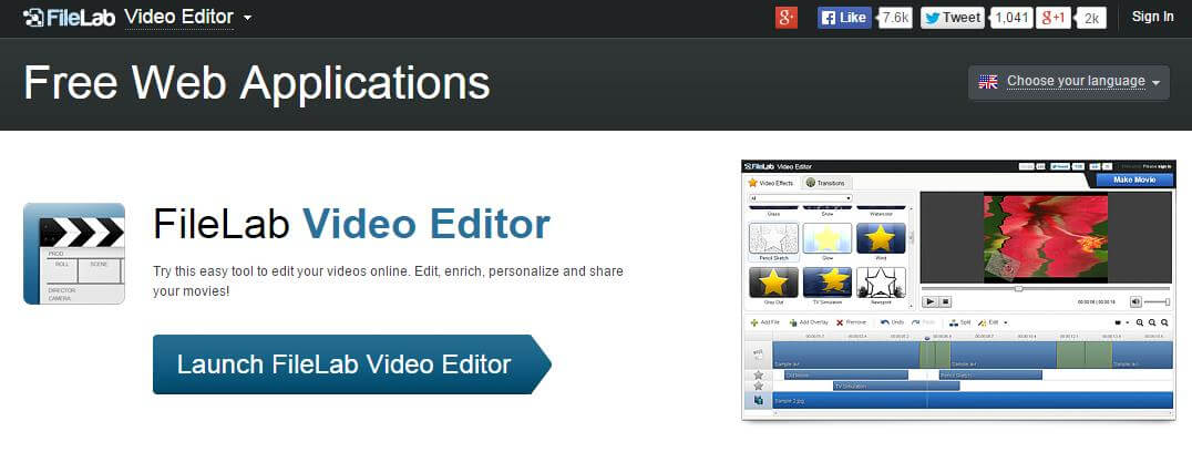online video editor effects
