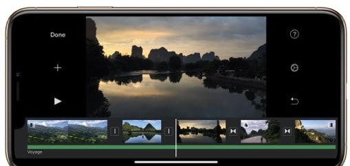 merge videos on iphone with imovie