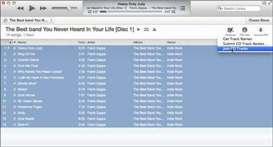 how to merge mp3 files in itunes