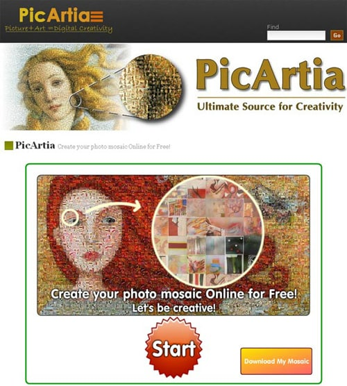 créer une mosaïque en ligne