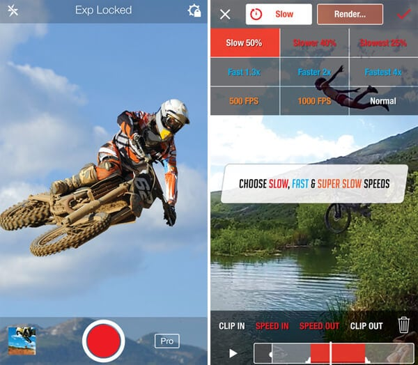 make fast motion video on iphone