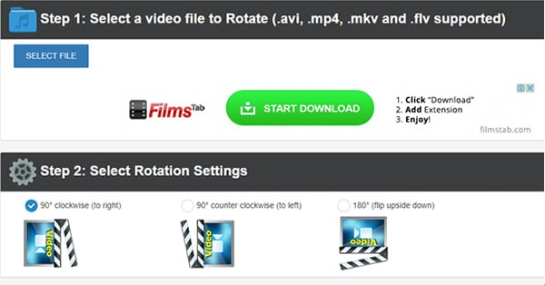 rotate a video online