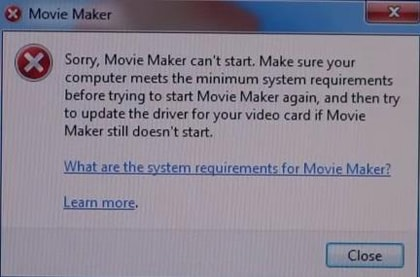 windows live movie maker troubleshooting