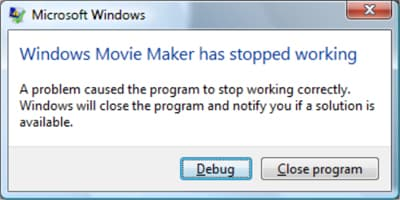 troubleshooting windows movie maker