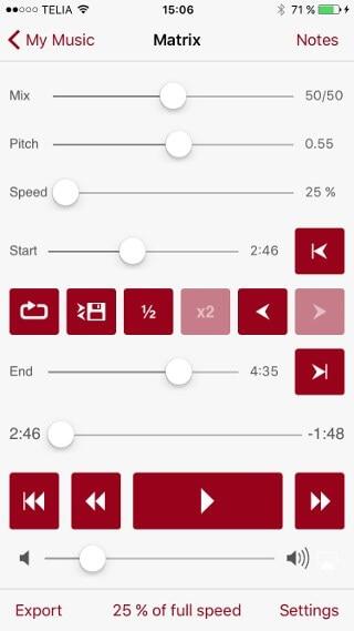 app to slow down audio