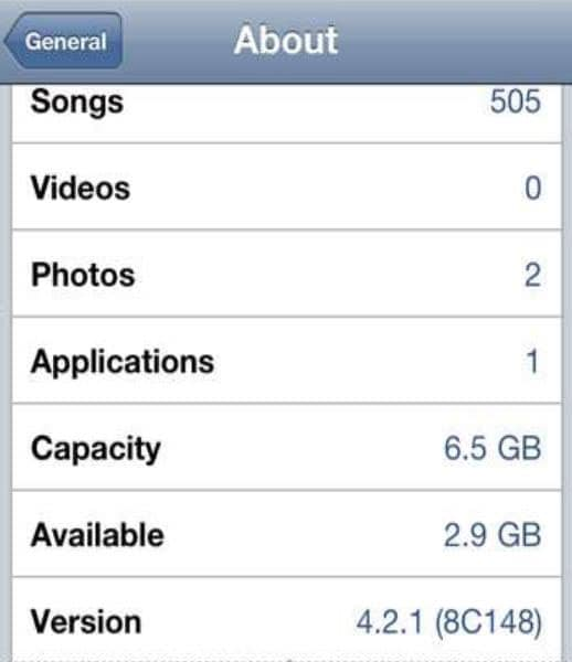 check storage on iPhone