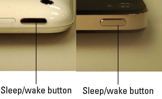 hold and press the sleep/wake button