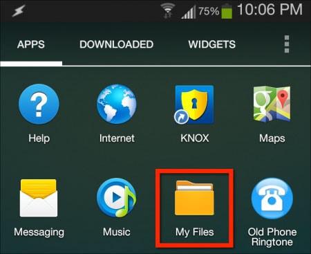 tap on My Files app