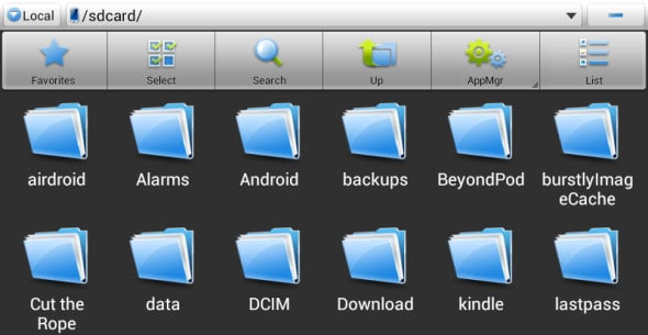 open Downloads