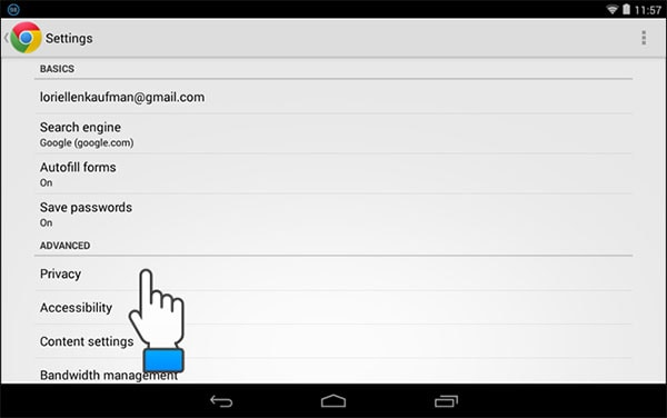 how to delete internet history on phone