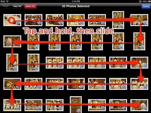 delete photos taken by iPad