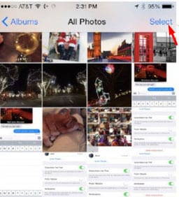 delete pictures from icloud photo library