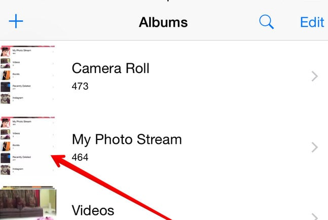 delete pictures from icloud photo stream