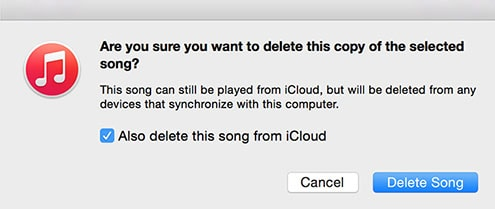 delelte songs from icloud