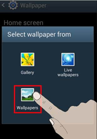 delete wallpaper on android