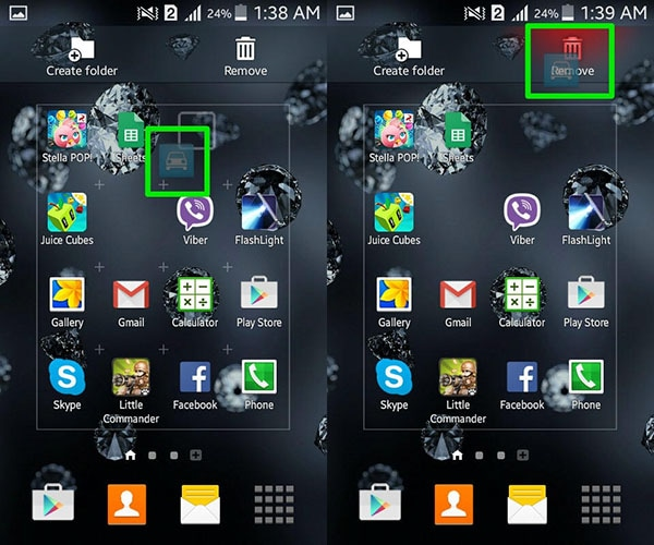 how to permanently delete widgets on android