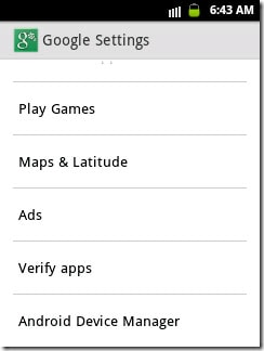 navigate to Google Settings app
