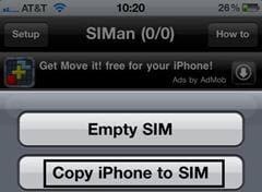 how to put iphone contacts on sim card