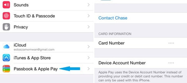 Tap on Wallet & Apple Pay