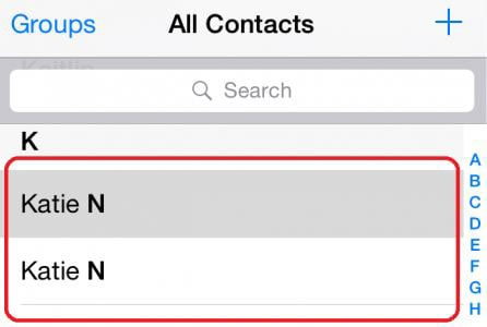 clean up duplicate contacts
