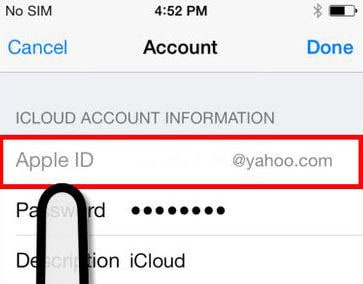 provide apple id and password