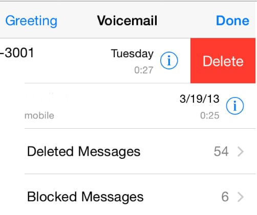 delete old voicemail
