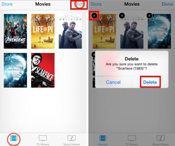 delete movies