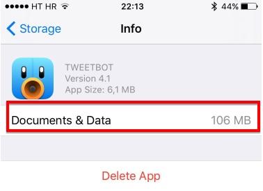 reduce app caches