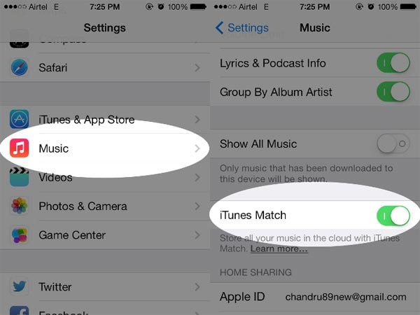 keep songs in iTunes Match