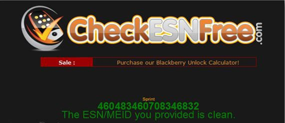 check if your phone has a clean ESN