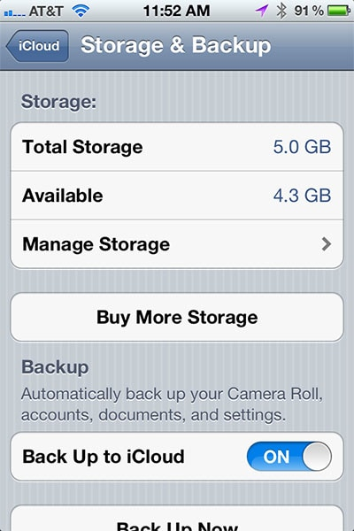 How to Purchase iCloud Storage