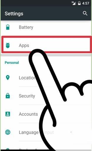 start settings app