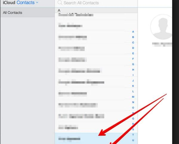 Select multiple contacts within iCloud