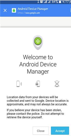 visit Android device manager