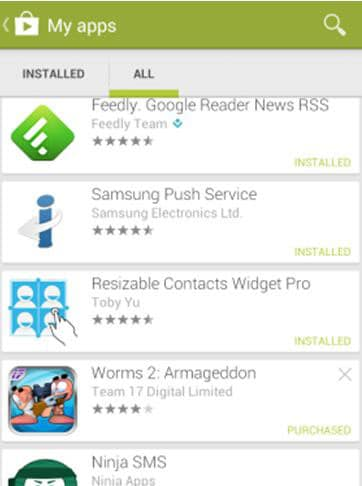 uninstall apps from google play