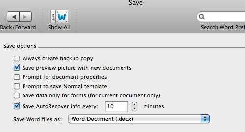 word document recovery on mac