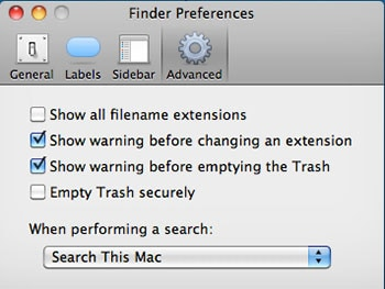 how to secure empty mac trash