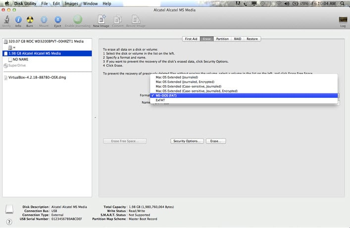 format windows drive on mac