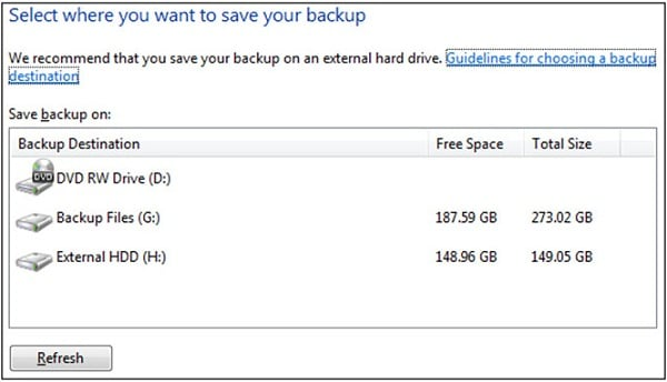 external hard drive backup
