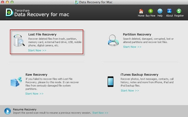 Tenorshare Any Data Recovery f&uumlr Mac