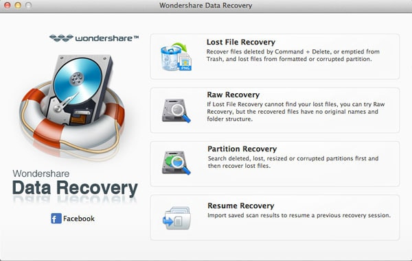 Wondershare Data Recovery pour Mac