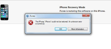 iphone won't restore